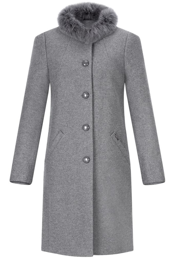 płaszcz z lisem